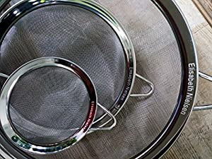 Fine Mesh Food Strainers - Set of 3 Stainless Steel Colanders with - Sieves to Strain, Rinse and Sift - Free Set of 3 Loose Tea Infusers from Christensen and Nielsen Trading Co. LLC