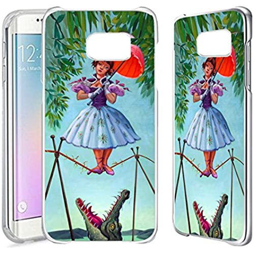 [TeleSkins] - Samsung Galaxy S7 EDGE Clear Case - Haunted Mansion Stretching - Ultra Durable Slim Fit, Protective Sales