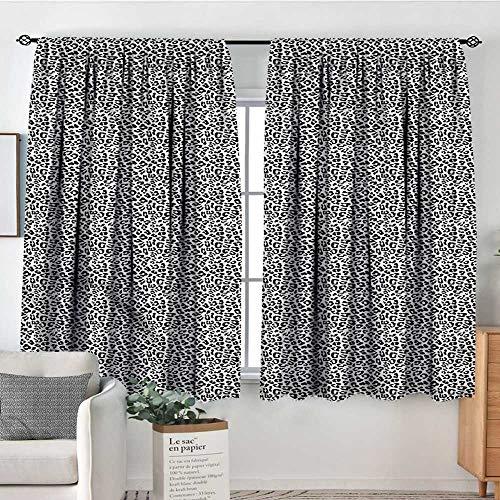 Beaded Leopard Shade - Sanring Leopard Print,Kids Decor Indo Curtain Drape Black and White 72