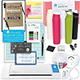Silhouette CAMEO 2 Starter Bundle with Vinyl Kit, Online Class, Cutting Blade, Glitter Pens, Starter Guide, Tools and More