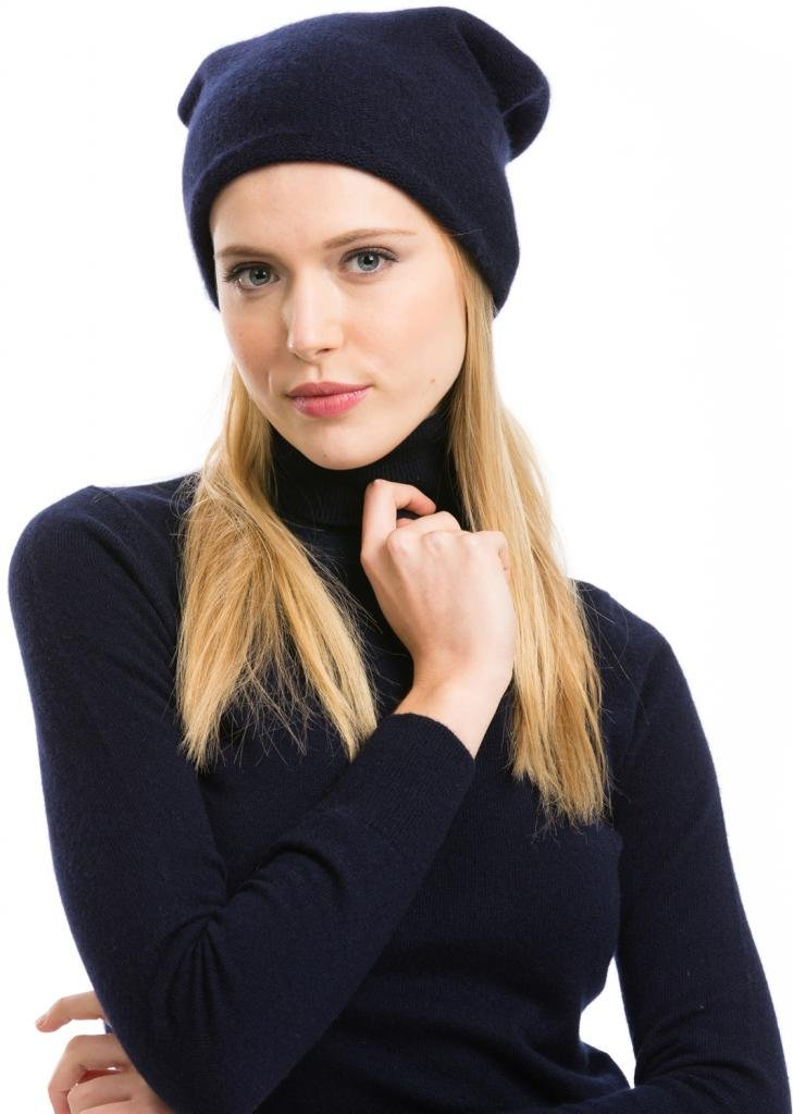 Slouchy Beanie, Women - 100% Cashmere - by Citizen Cashmere (Gray) (45 303-03-09)