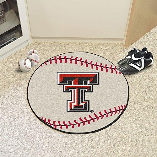 FANMATS NCAA Texas Tech University Red Raiders Nylon Face Baseball Rug