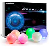 GOANDO Glow Golf Balls Night Sports Light up LED Golf Ball Glow in The Dark Golf Balls Multi Colors of Blue, Yellow, Red…
