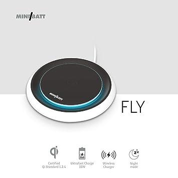 miniBatt Fly- Cargador Inalámbrico retroiluminado Ultra Fast ...