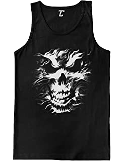 a0b06f9696a3b0 Amazon.com  Skull and Crossbones - Badass Men s Tank Top  Clothing