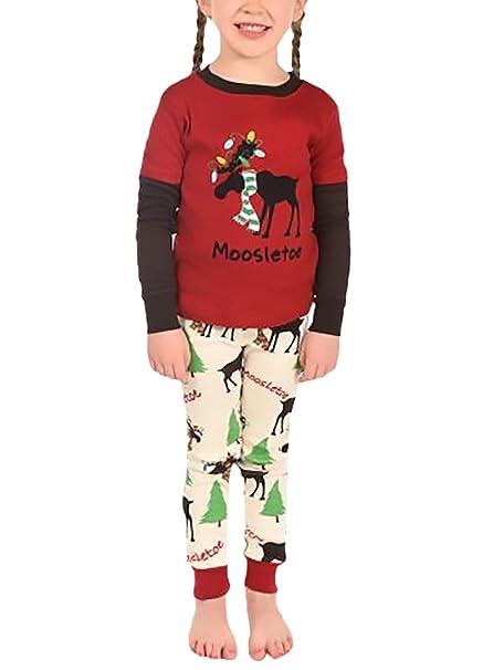 Pijamas Familia Navidad A Juego Con Dos Piezas Camisetas Top+Largo Pantalones Papá Mamá Niños