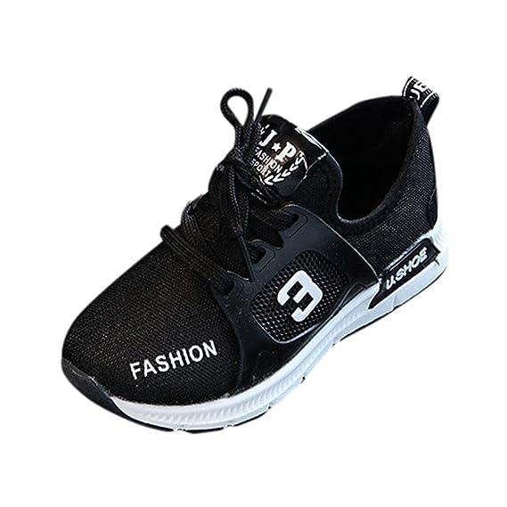 YanHoo Zapatos para niños Calzado Casual Transpirable de Malla Masculina y Femenina Zapatillas de Deporte para niños pequeños con Forma de Carta y Calzado ...