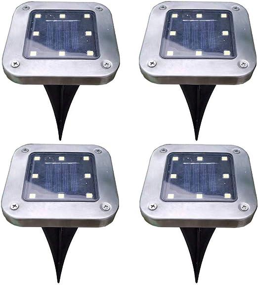 Sahgsa Luces solares, 4 Piezas Luces solares de jardín Solar LED, Lámpara Solar para Exteriores Impermeable Luz de jardín súper Brillante Luz Solar Luz Exterior para Sendero de jardín: Amazon.es: Hogar