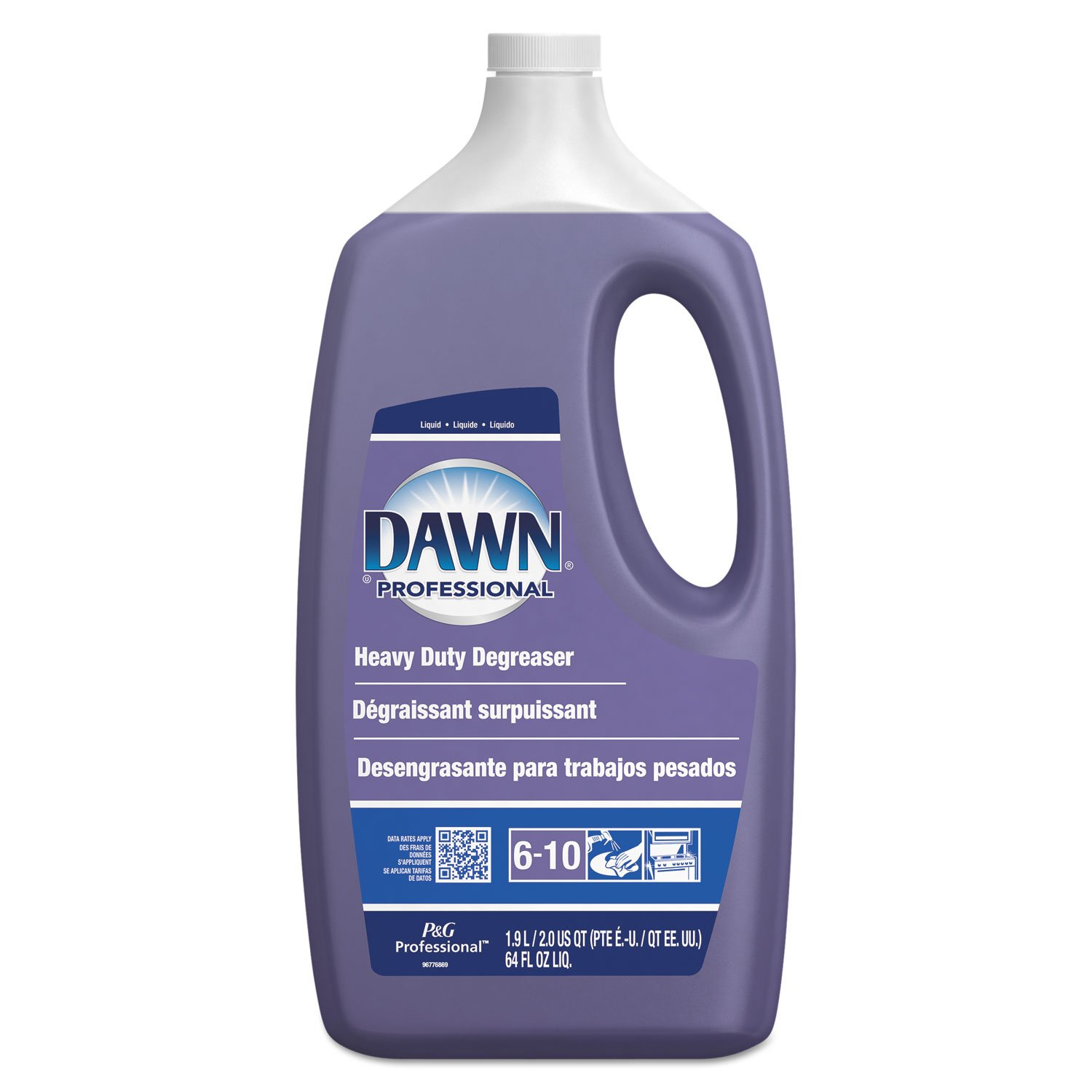 Dawn Professional 04853 Heavy-Duty Degreaser Pine Scent 2qt Bottle 5 Bottles/Carton