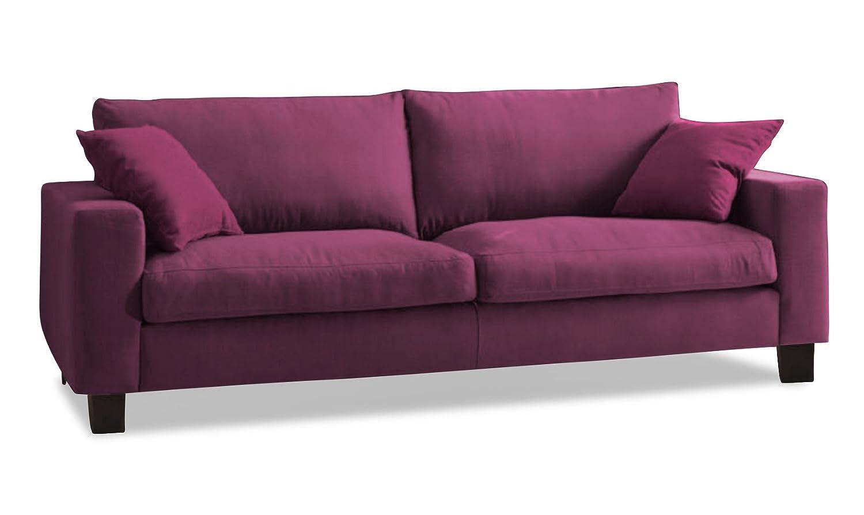 Sofá-3-asiento DIMA en un tejido mezclado con forro de ...