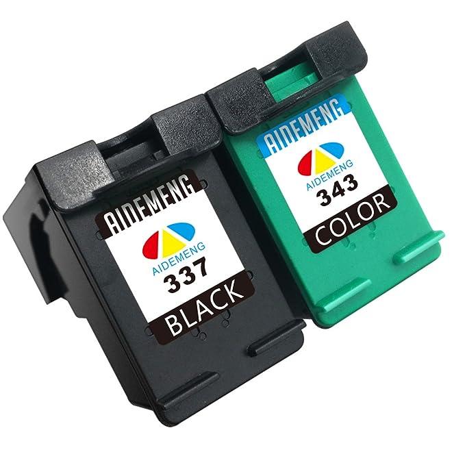 3 opinioni per AideMeng 2 Cartucce d'inchiostro 337 343 Compatibile per HP 337 HP 343 Stampanti