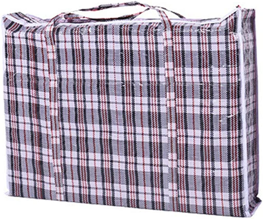 Gallity Strong and Durable Laundry Bags,Reusable Extra-Large Plastic Checkered Storage Laundry Shopping Bags with Zipper and Handles! Size 31.5''x23.6''x5.7''