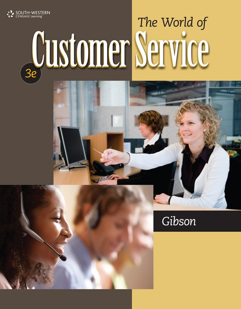 Instructor's test bank for the world of customer service, 3rd.
