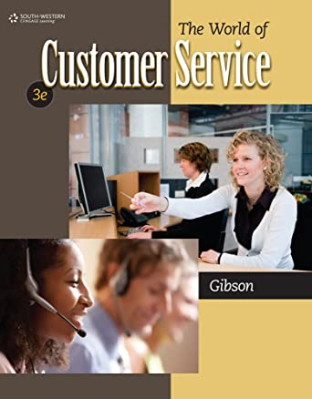 The world of customer service 9780840064240 cengage.