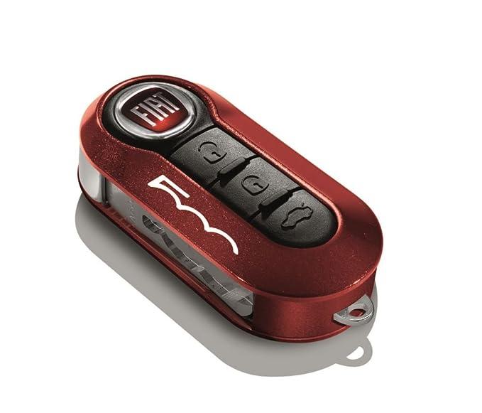 Fiat 500L fundas para llaves llavero metálico rojo y negro ...