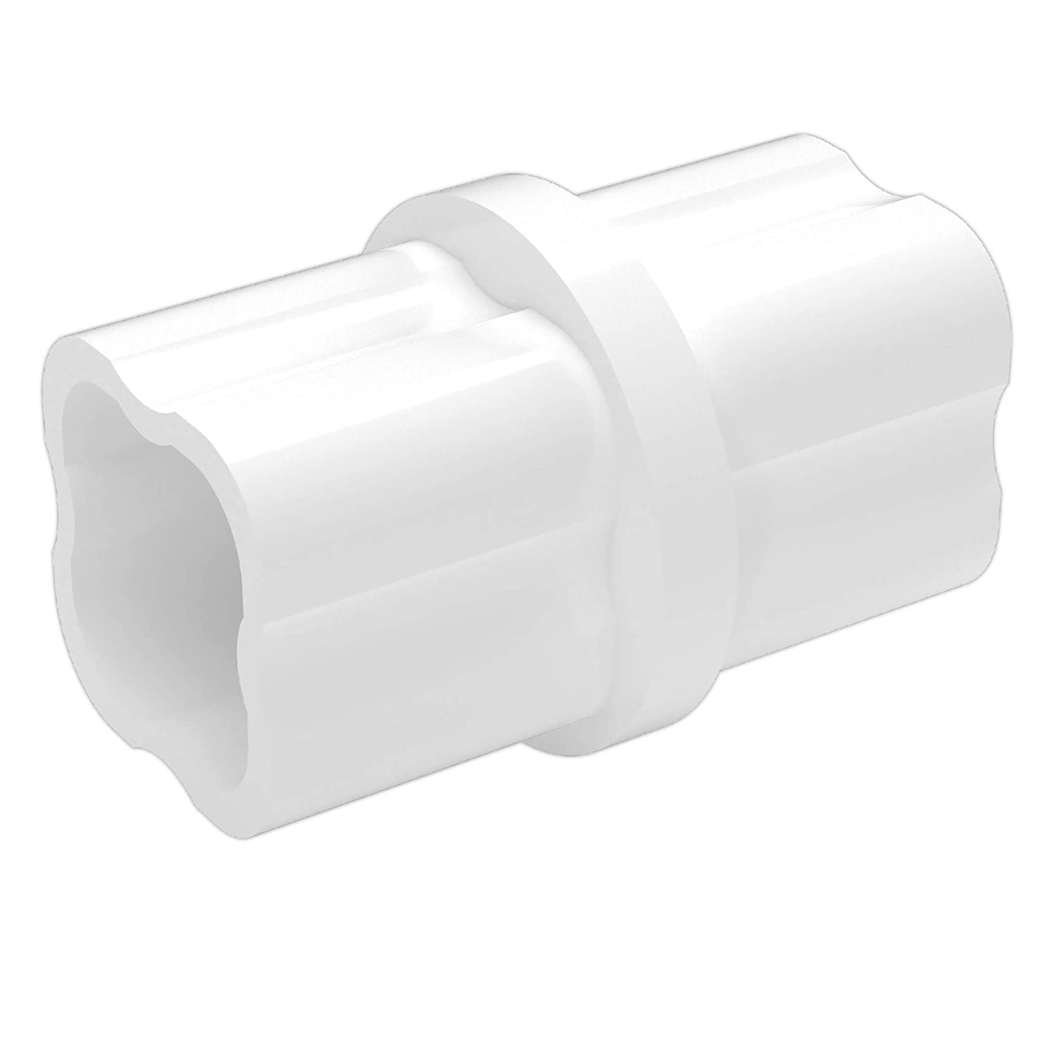 "FORMUFIT F034ICO-WH-10 Internal PVC Coupling, Furniture Grade, 3/4"" Size, White (Pack of 10)"