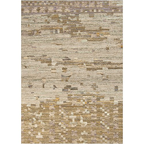 - Surya RUT700-3353 Hand Woven Casual Accent Rug, 3-Feet 3-Inch by 5-Feet 3-Inch, Olive/Gray/Iris
