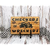 Checkers or Wreckers, Wood Sign, Disney Cars, Child's Room Decor, Baby Decor, Baby Shower Gift, Nursery Decor, Racing Nusery, Nascar