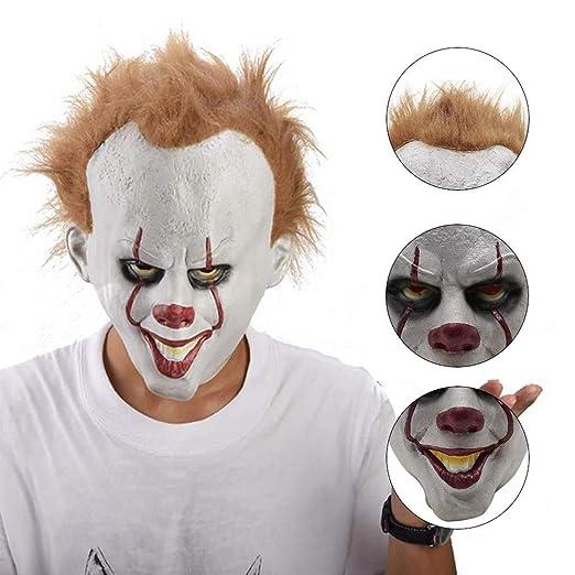 zhaokai Máscara de Payaso de Halloween Máscara de látex Pennywise ...