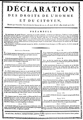 French Revolution 1789 Nthe Declaration Of The Rights Of Man As Adopted By The National Assembly On 26 August 1789 An Early Printing Distributed By The Goujon Music Publishers Paris France Poster Prin (Publisher Music Posters)