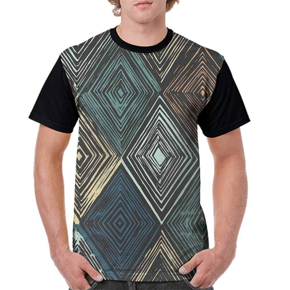 Men Crewneck Short Sleeve Senior t-Shirt Relaxed fit Comfort Cool Undershirt