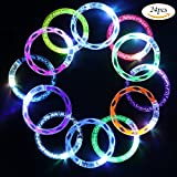 24 Pack Flashing Colorful LED Grow Bracelets with 6 Spare Batteries For Wedding, Birthdays, Concert, Night Games Fun Events For Sale
