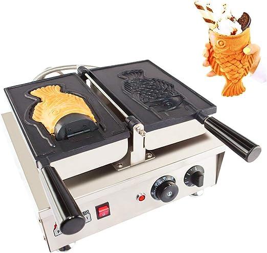 Commercial Nonstick Electric 3pcs Fish Waffle Ice Cream Taiyaki Maker Good Item