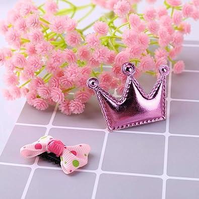 Lindo Bowknot Barrettes Princesa Pinza De Pelo Silverone 6Pcs Pinza De Pelo para Ni/ña