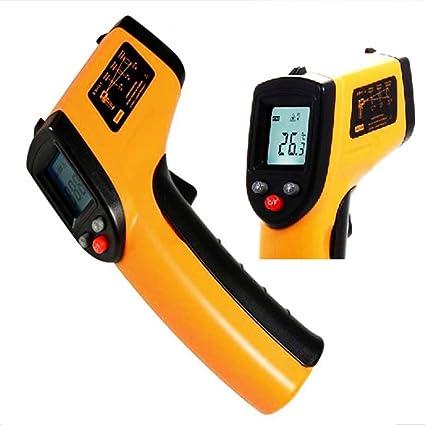 Amplia gama portátil LCD sin contacto infrarrojos láser termómetro pirómetro Digital diagnostic-tool medición de