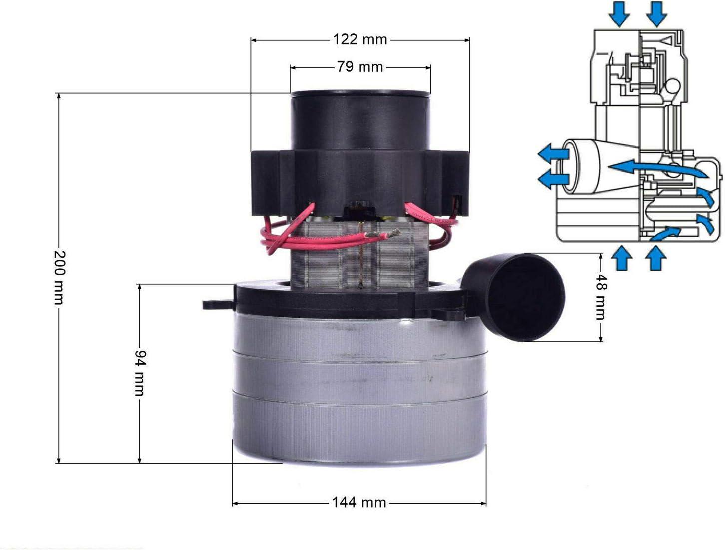 36 V 600 W Motor de succi/ón para m/áquina de aspiraci/ón Comac Fimap Nightish RCM Tennant CTM
