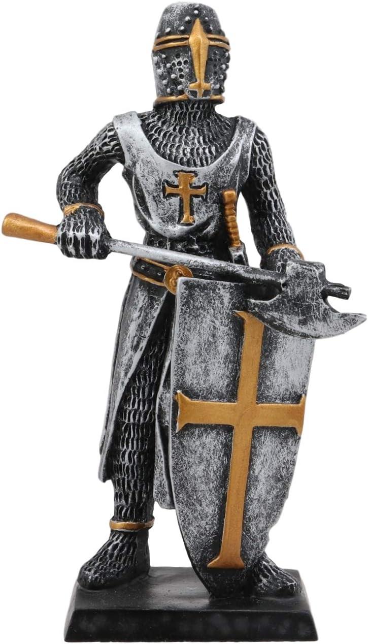 Amazon.com Ebros Gift Medieval Knight Crusader Axeman