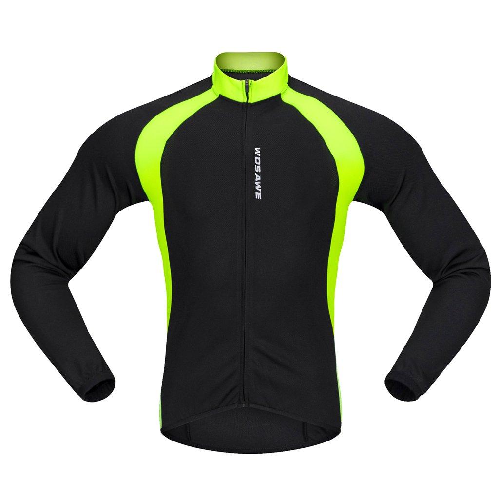 MagiDeal Maglia Manica Lunga Giacca Uomo Maglietta Abbigliamento Per Ciclismo Inverno Poliestere