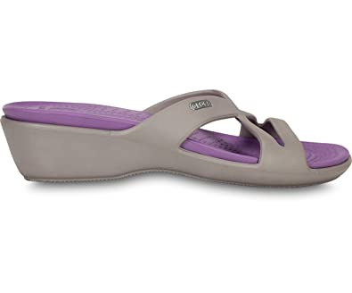 eb356d69a crocs Patricia II Women Wedge in Grey  Buy Online at Low Prices in India -  Amazon.in