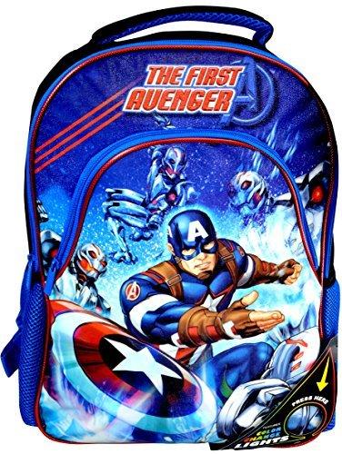 "Marvel ""The First Avenger"" Captain America Color Change Lights 16-inch Backpack"