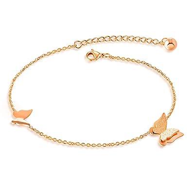 Anklets Jewelry & Watches Or Bracelet De Cheville Rose Cheville Plage Pied Bijouterie Choix De Taille Elegant In Style