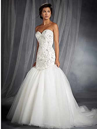 Alfred Angelo 249 Wedding Gown at Amazon Women\'s Clothing store: