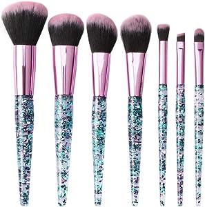 Chytaii. Brochas Maquillaje Sets de Brochas Brochas Maquillaje Brochas para Maquillaje Facial Cepillos para Ojos Brochas para Labios 7pcs