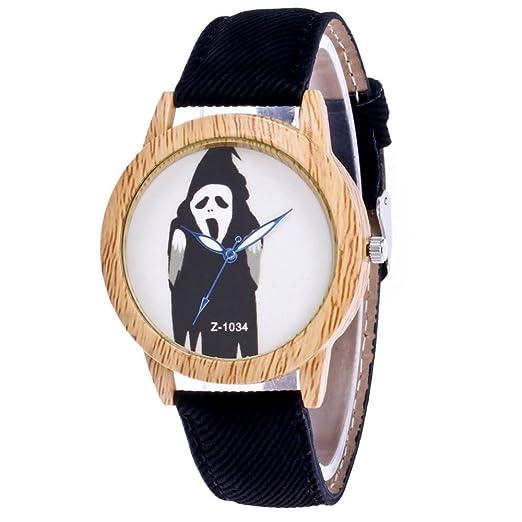 loweryeah halloween haunted house witch wood grain neutral cowboy watch