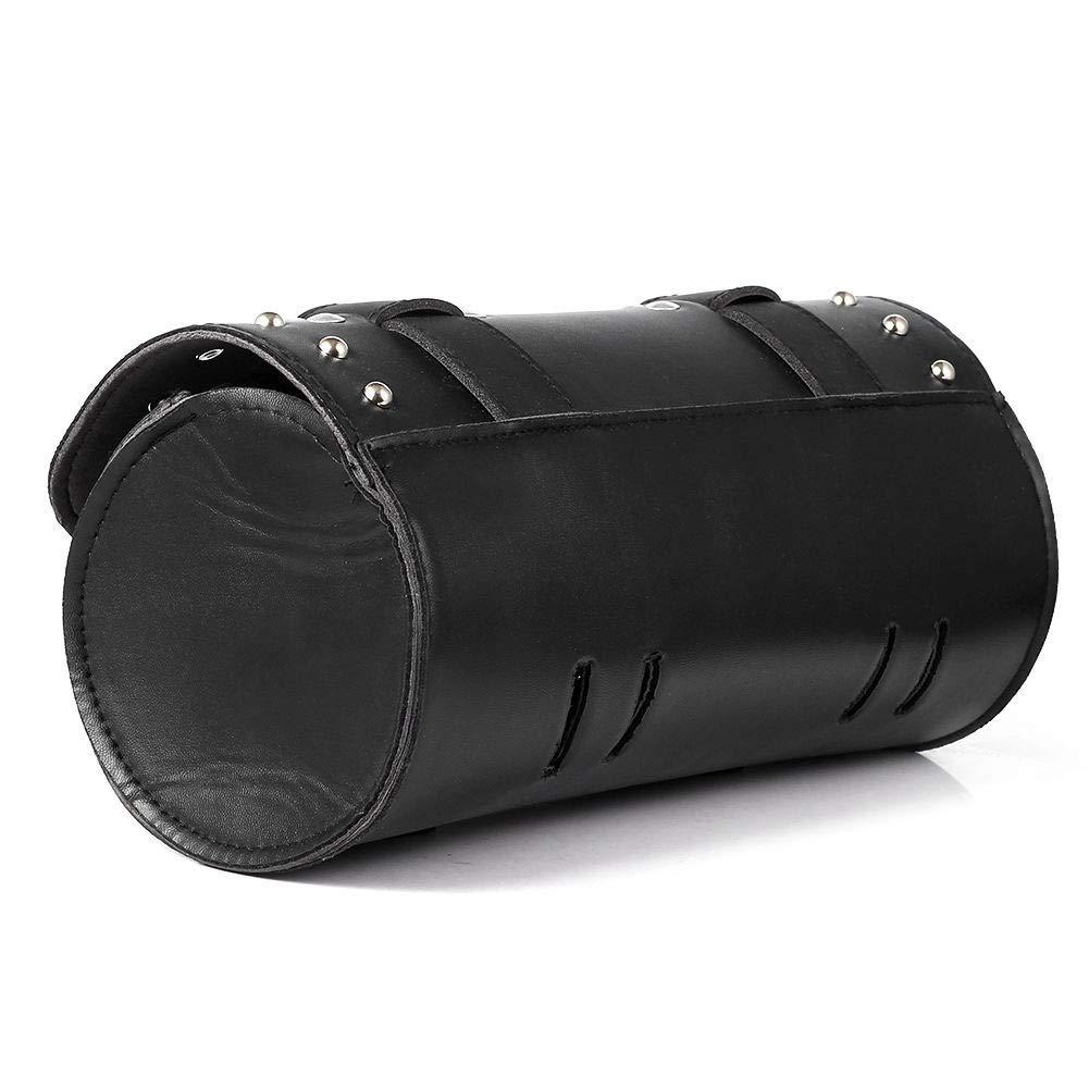 Noir YGQersh Sacoche de Rangement pour Outil de Scooter de Moto en Similicuir sur Le c/ôt/é Rond de Baril