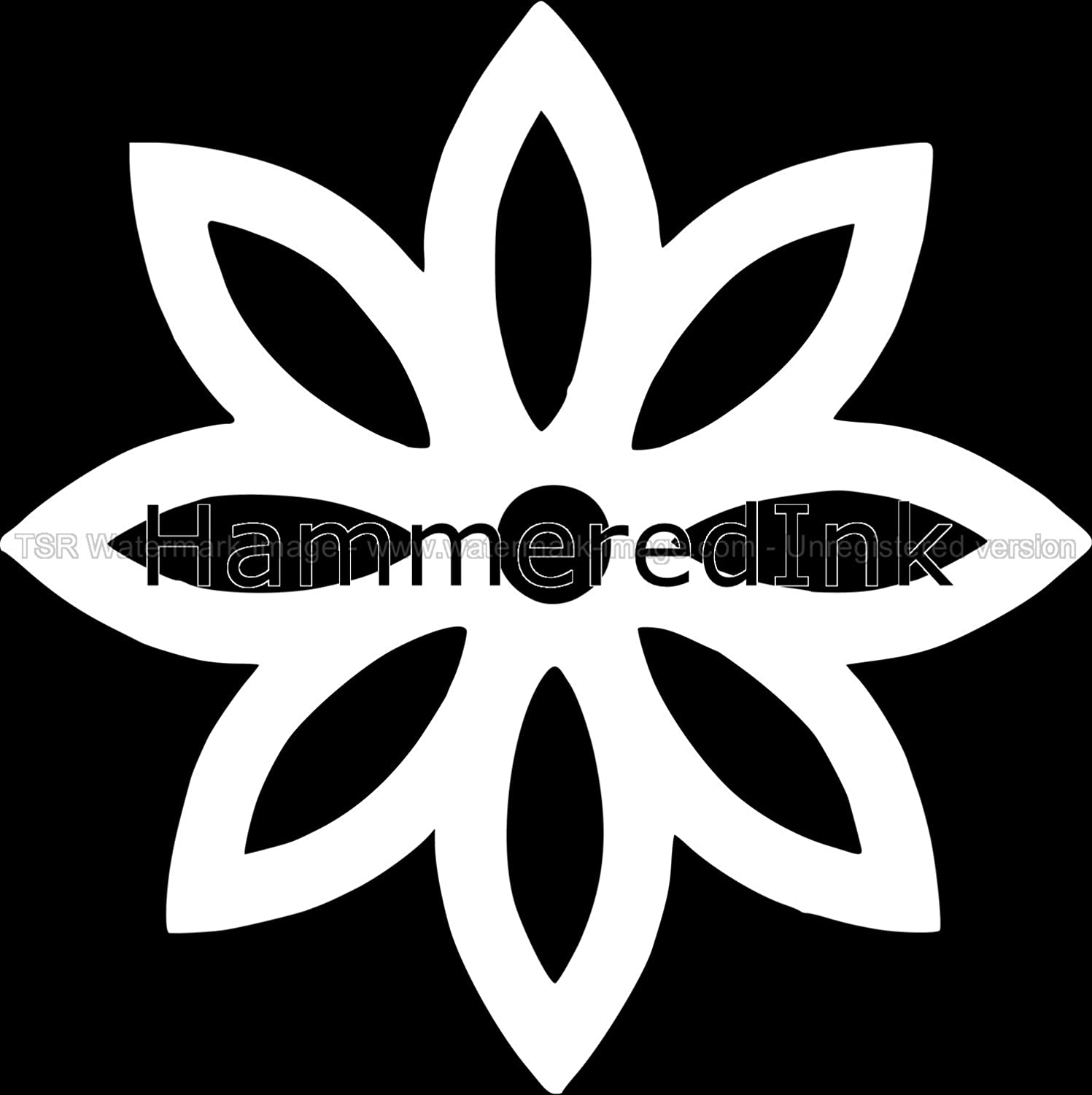 Daisy Flower Car Decal Wall Sticker Hammered Ink