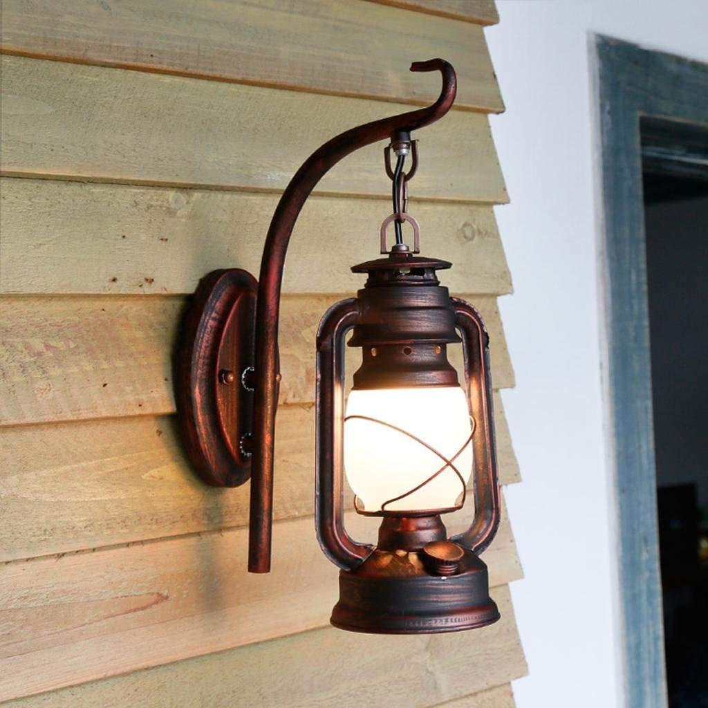 Lampada da parete balcone corridoio scalinata porta creative luce di lampada di kerosane ferro lampada da parete, 1