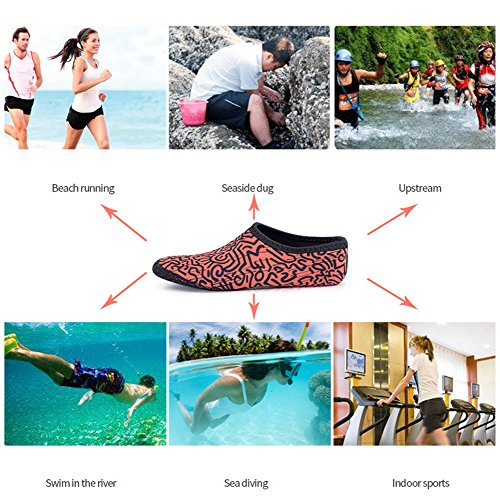 Juleya Water Socks Barefoot Skin Shoes Beach Surf Diving Home Slipper Pool Swimming Yoga Shoes For Men Women 15# gkcBZv