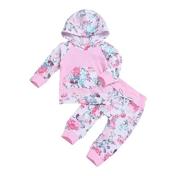 e854a39ba3a18b sunnymi 2 TLG Tops + Hosen Baby Mädchen 🌸 Blumen Hoodie 🌸 Winter Lange  Ärmel Kleidung
