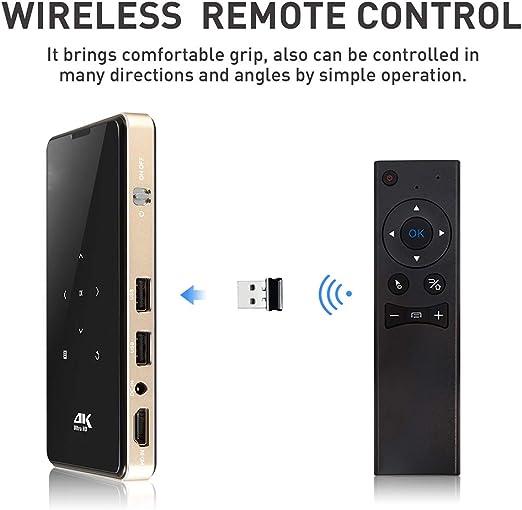 Mini Proyector De Bolsillo, 1080P WiFi Teatro Smart Video DLP ...