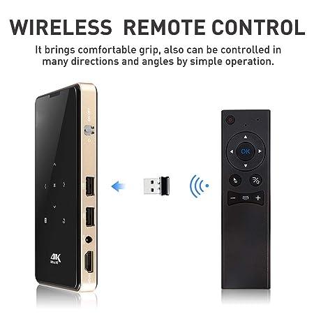 Mini Proyector De Bolsillo, 1080P WiFi Teatro Smart Video ...