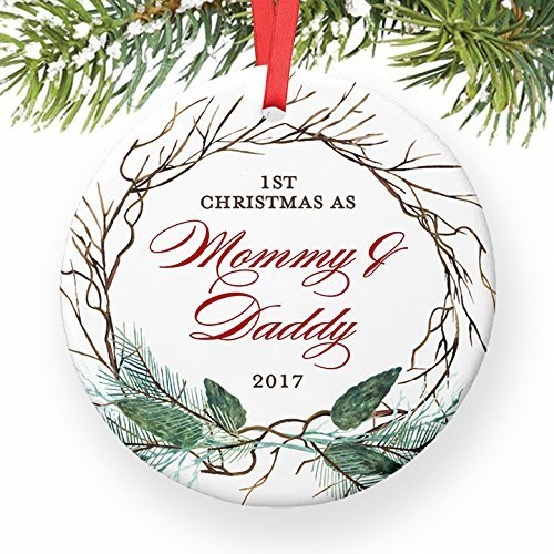 New Parents Christmas Ornament, 2017 Ornament for New Mother & Father,  First Xmas Newborn - Amazon.com: New Parents Christmas Ornament, 2017 Ornament For New