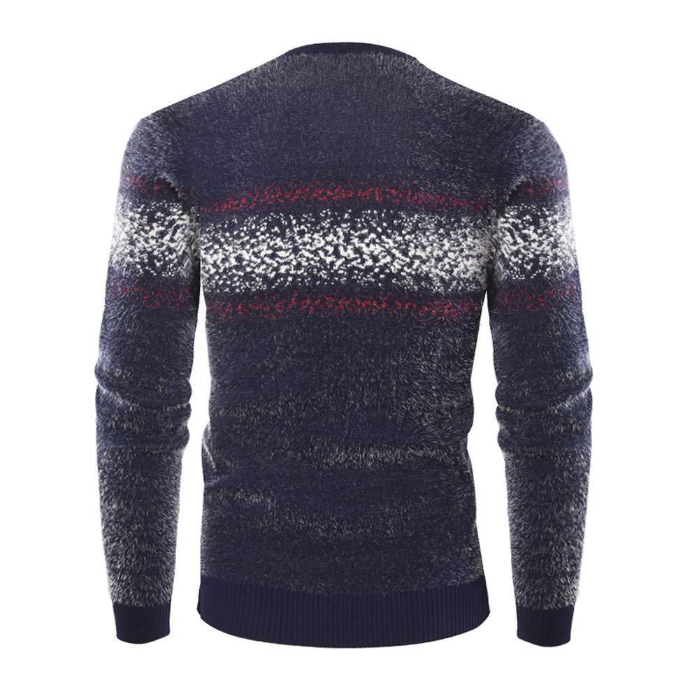 Celucke Norweger Pullover Herren Strickpullover Feinstrick Warm Strickjacke Winter  Sweatshirt mit Rundhals Langarm Sweater  Amazon.de  Bekleidung ad62469b3c