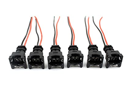 Swell Amazon Com Goodeal 6Pcs Fuel Injector Connectors Wiring Harness Fit Wiring 101 Eumquscobadownsetwise Assnl