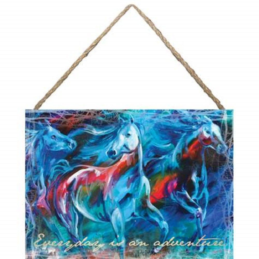 Westland Giftware Marcia Baldwin Hanging Canvas Wall Art, 10 by 14-Inch, Everyday is an Adventure
