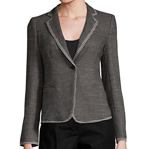 (MaxMara Women's Lappole Woven Wool Blend Blazer US 8 Black)